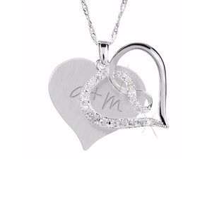 Jewelry - THINGS REMEMBERED Infinity Heart Crystal Necklace